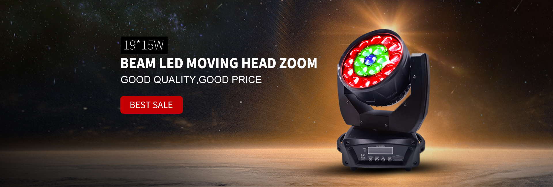 19x15W beam led zoom moving head